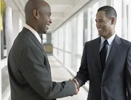 Two Men Shaking Hands, Insurance Agency Sales in Frisco, TX